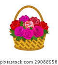 Bouquet of roses in the basket 29088956