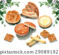 pastry, baked good, various 29089192
