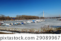 Frozen lake Ada Ciganlija, Belgrade, Serbia 29089967