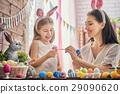 family preparing for Easter 29090620