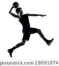 basketball player man isolated silhouette shadow 29091974