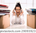Conceptual portrait of a stressed worker 29093923