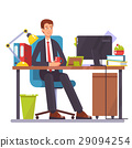 flat illustration of a man working on the 29094254