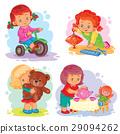 set, icon, girl 29094262