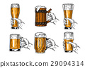 Set of icons beer glasses 29094314