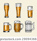 Set of icons full glass beer 29094366