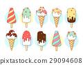 冰淇淋 向量 向量圖 29094608