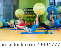 Group of people in a Pilates class at the gym 29094777