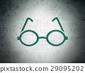 Learning concept: Glasses on Digital Data Paper 29095202