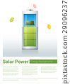 Green energy concept background with solar panel  29096237