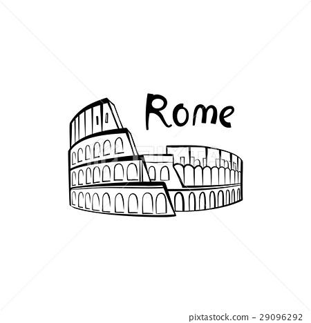 Coliseum Landmark Rome Sign Travel Italy Icon