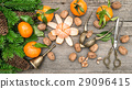 Christmas decoration with tangerine fruits 29096415
