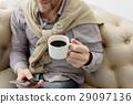Joyful guy messaging on mobile phone 29097136