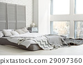 Beautiful modern design in comfortable bedroom 29097360