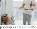 Cute loving couple enjoying morning together 29097455
