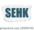 Stock market indexes concept: SEHK on Torn Paper 29099795