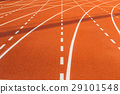 Running track ,Rubber granules red background 29101548