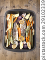 sea bass cooked with vegetable 29102339