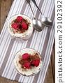 nut cream dessert with whipped cream 29102392