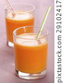 carrot and turnip smoothie in a shot glass 29102417