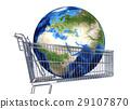 cart, earth, globe 29107870