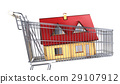 House in a supermarket trolley. 29107912