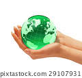 earth, globe, hand 29107931