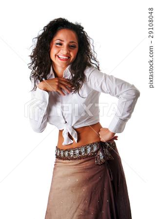 Fun and laughing beautiful woman 29108048