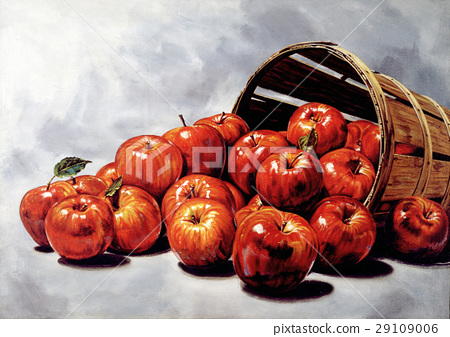 Red apples group, coming out from a Wooden bucket 29109006