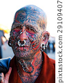 Face with tattoos and piercings 29109407