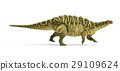 Talarurus dinosaur, photorealistic and scientifically correct representation. Side view. 29109624