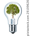 Light bulb with tree in place of filament. 29109626