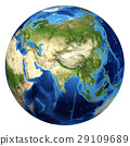 Earth globe, realistic 3 D rendering. Asia view. 29109689