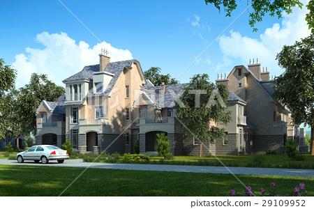 Classic luxury house exterior. 29109952