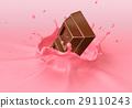 巧克力 坠落 奶昔 29110243