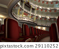 Classic Theater interior, with chair rows in the foreground. 29110252