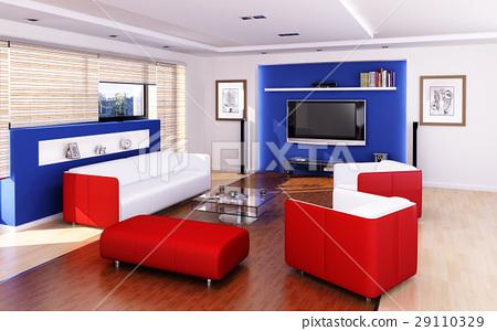Living room modern style. 29110329