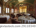 Old antique restaurant interior, with decorations. 29110340