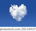 Fluffy cloud of the shape of heart, on a deep blue sky. 29110437