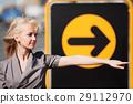 arrow female pointing 29112970