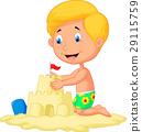 cartoon, vector, beach 29115759