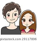 兩三個年輕人和婦女的例證 29117896