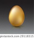 Golden Easter egg, vector illustration. 29118315