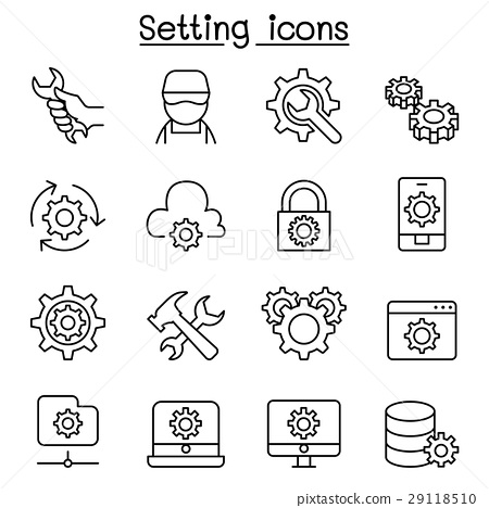 Setting, Setup, Configuration, Maintenance icon  29118510