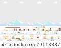 城镇 雪山 冬天 29118887