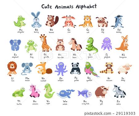 cartoon animals collection 29119303