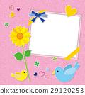 小鸟 向日葵 相框 29120253
