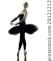 Ballerina dancer dancing woman  isolated silhouett 29121212