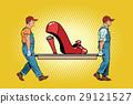 Womens shoes the heel broke 29121527