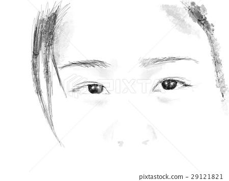 Illustrated eyes Illustration 29121821